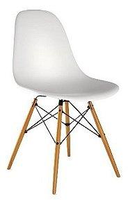 Cadeira Para Sala Com Base Em Madeira Notável Eiffel Branco