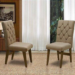 Conj 02 Cadeiras Para Sala De Jantar Istambul Cast/castor