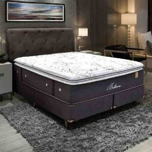 Cama King Size Box Com Molas Ensacadas 1,93 M Baltimore
