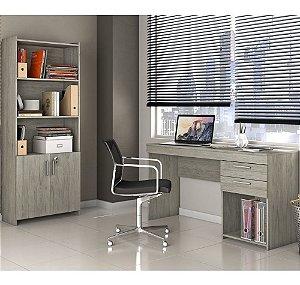 Conjunto Multiuso E Mesa Home Office Notável Carvalho