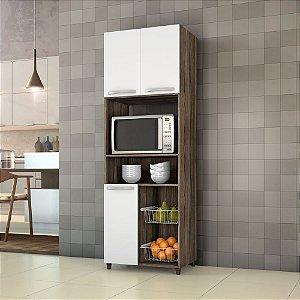 Fruteira P/ Cozinha Com 03 Portas Top Line Chocolate/branco