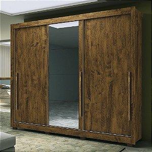 Guarda Roupa Casal 3 Portas E Espelhos Mônaco Cas W av W