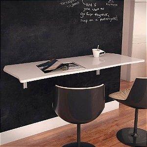 Mesa Dobrável Suspensa Em Mdf 90 Cm Para Cozinha Branco