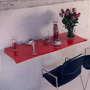 Mesa Dobrável Suspensa Em Mdf 90 Cm Para Cozinha Vermelho
