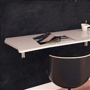 Mesa Dobrável Suspensa Para Cozinha Em Mdf 110cm Branco