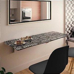 Mesa Dobrável Suspensa Para Cozinha Em Mdf 130cm Apetit