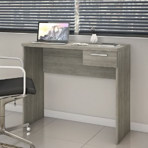 Mesa de Escritório Home Office Com Gaveta Nt2000 Carvalho