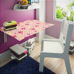 Mesa Infantil Suspensa 70x40 C/ Cadeira Kids Butterfly
