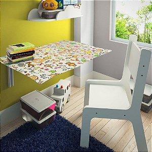Mesa Dobrável Suspensa 70x40 C/ Cadeira Kids Toys