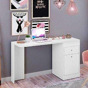 Mesa Para Notebook com Penteadeira e Espelho Desejo Branco