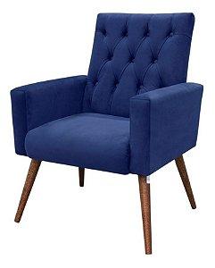 Poltrona Decorativa Para Sala Moderna Charlote Azul