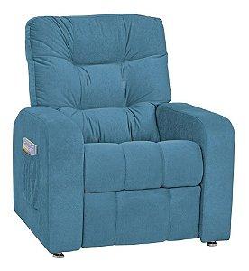 Poltrona do Papai Reciclável Decorativa P Sala Mx7 Suede Azul