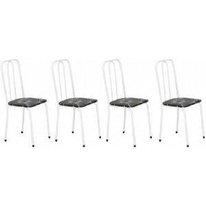 Cadeira Para Cozinha 4 UN Com Assento Reto 0.0.234