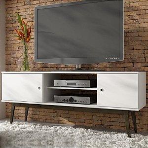 Rack Para Sala Bancada P TV Wood Bpi11 Branco Carvalho