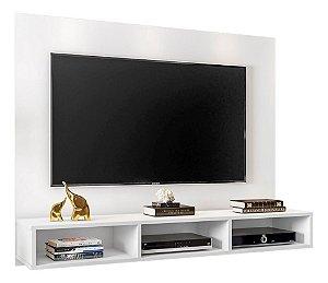 Painel Para Tv 55 Polegadas Home Suspenso Quartzo Branco