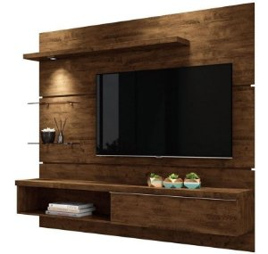 Painel Para TV Home Suspenso Com Bancada Ores 1.8 Canyon