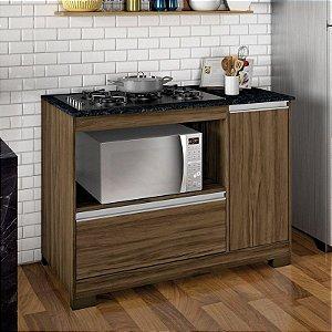 Balcão De Cozinha Para Cooktop Nt 3050 Nogal Trend