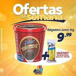 Brigadeiro Junco 1kg - Grátis pacote de formas nº9 100unid.