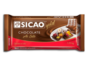 Barra Chocolate Ao Leite Gold 1kg - Sicao