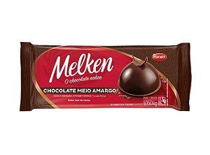 Barra Chocolate Melken Meio Amargo 1,050kg - Harald