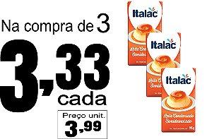 3 Leites Condensados Semidesnatados 395g - Italac