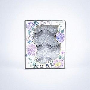 Cartela com 3 Pares de Cílios 3D - Mink