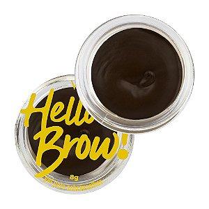 Gel para Sobrancelhas Hello Brow Marrom Escuro - Vizzela