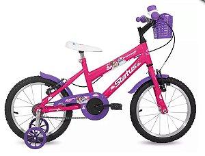 "Bicicleta Infantil Status Aro 16"" - Rosa"