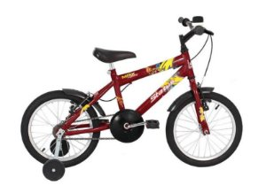 "Bicicleta Infantil Status Aro 16"" - Vermelha"