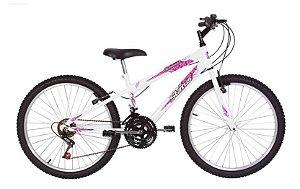 Bicicleta Status Belissima Aro 24″, 18 Marchas- Branca