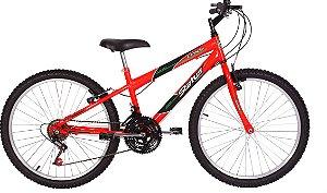 Bicicleta Status Lenda Aro 24″, 18 Marchas- Laranja