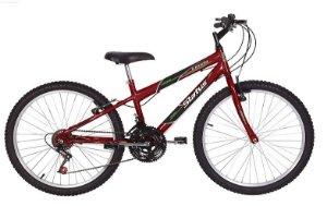 Bicicleta Status Lenda Aro 24″, 18 Marchas- Vermelha