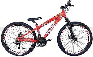 Bicicleta Vikingx Tuff X-25 Aro 26″- Vermelha