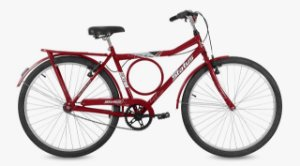 Bicicleta Status Barra Circular Aro 26″- Vermelha
