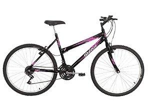 Bicicleta Status Belissima Aro 26″, 18 marchas – Preta/ Rosa