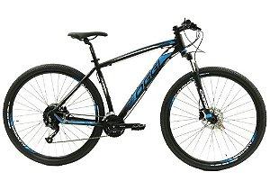 Bicicleta Oggi 7.0 Big Wheel Aro 29″, 27 Marchas- Preta e Azul