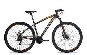 Bicicleta Oggi Hacker Aro 29″, 21 Marchas – Preta e Laranja
