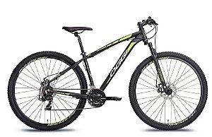 Bicicleta Oggi Hacker Aro 29″, 21 Marchas – Preta e Verde