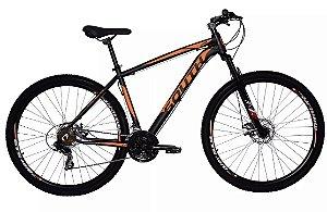 Bicicleta South Legend Aro 29″- Preta e Laranja