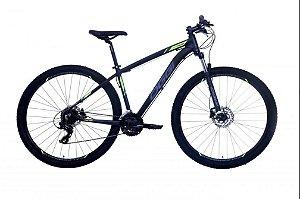 Bicicleta Oggi Hacker HDS Aro 29″, 24 Marchas – Preta e Azul