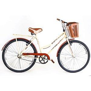 Bicicleta Route Retrô Bege