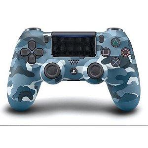 Controle Dualshock 4 - PlayStation 4 - Camuflado Azul