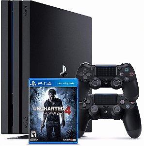 Console PS4 PRO - 1TB +2 controles + 1 jogo com 2 Anos de Garantia - Sony
