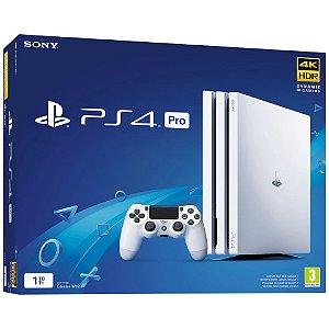 Console PS4 PRO - GLACIER WHITE - 1TB com 2 Anos de Garantia - Sony