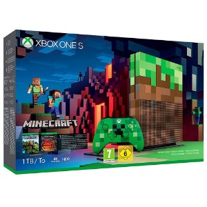 Console Xbox One S 1TB Edição Especial Minecraft - 2 anos garantia