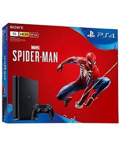 Console PS4 Slim 1TB com 2 Anos de Garantia e Jogo Spiderman