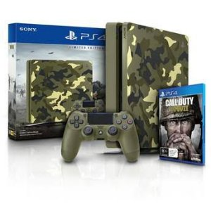 Console Playstation 4 1TB Slim Com Call Of Duty WW2 Bundle PS4 Sony