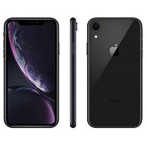 """iPhone XR Apple com 128GB, Tela Retina LCD de 6,1"""", iOS 12, Câmera Traseira 12MP, Resistente à Água e Reconhecimento Facial – Preto"""