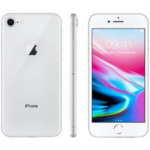 "iPhone 8 256GB Prata Tela 4.7"" iOS 11 4G Câmera 12MP - Apple"