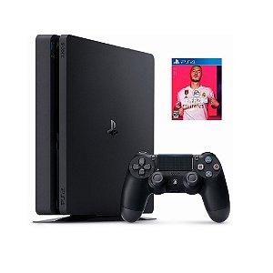 Console PS4 Slim 500GB  -  2 Anos de Garantia + FIFA 20